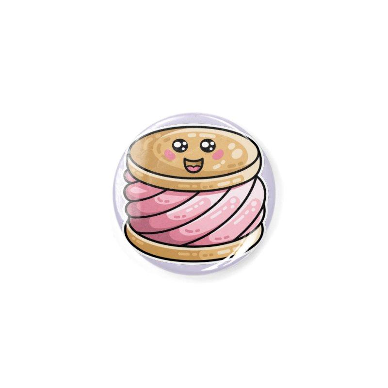 Kawaii Cute Ice Cream Sandwich Accessories Button by Flaming Imp's Artist Shop