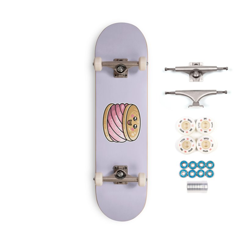 Kawaii Cute Ice Cream Sandwich Accessories Complete - Premium Skateboard by Flaming Imp's Artist Shop