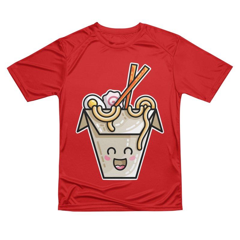Kawaii Cute Ramen Noodles Takeaway Box Men's Performance T-Shirt by Flaming Imp's Artist Shop