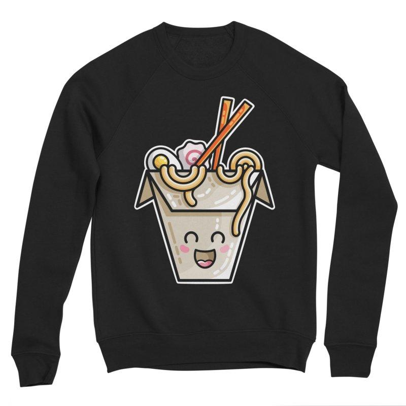 Kawaii Cute Ramen Noodles Takeaway Box Men's Sponge Fleece Sweatshirt by Flaming Imp's Artist Shop