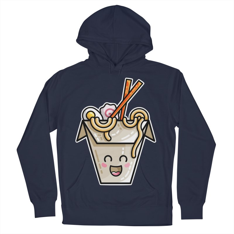 Kawaii Cute Ramen Noodles Takeaway Box Women's French Terry Pullover Hoody by Flaming Imp's Artist Shop