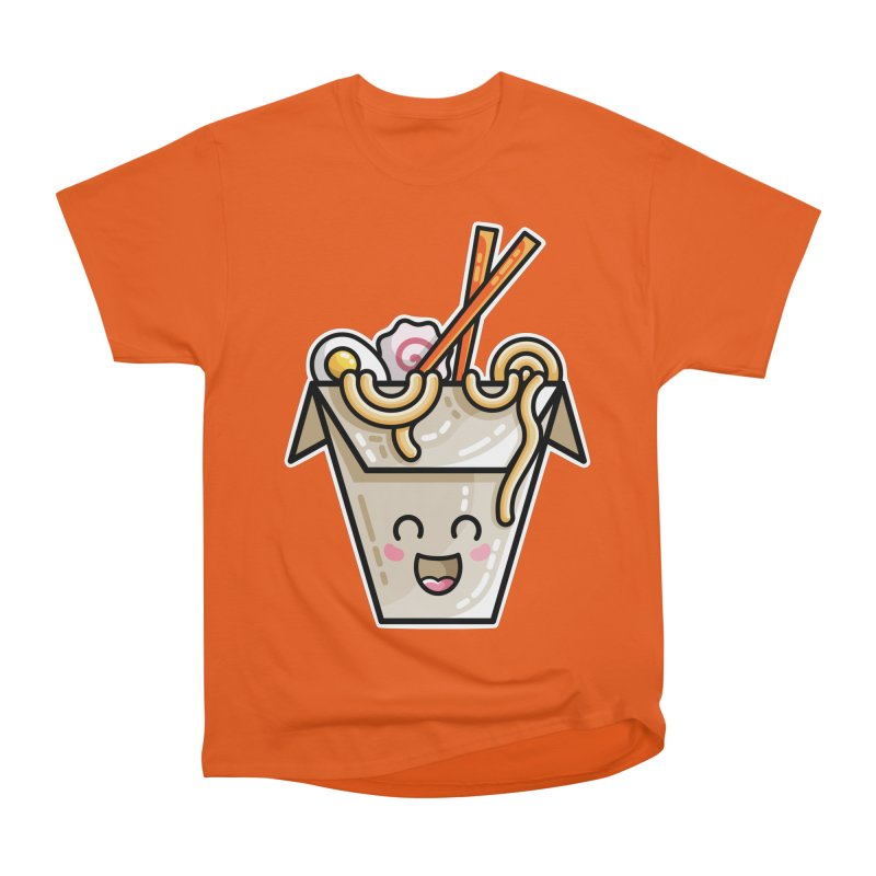 Kawaii Cute Ramen Noodles Takeaway Box Women's Heavyweight Unisex T-Shirt by Flaming Imp's Artist Shop