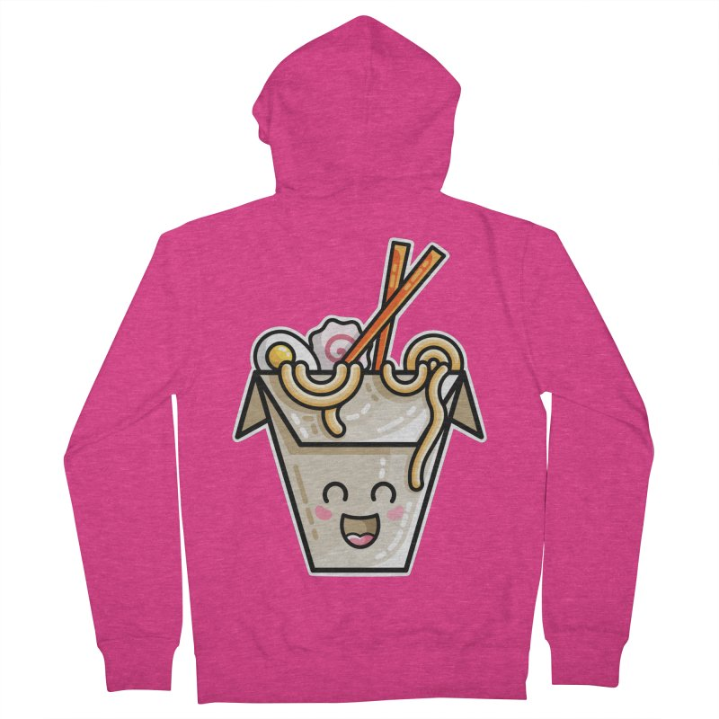 Kawaii Cute Ramen Noodles Takeaway Box Women's French Terry Zip-Up Hoody by Flaming Imp's Artist Shop