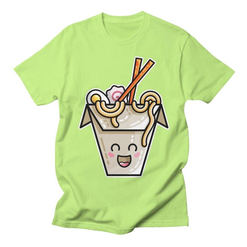 Kawaii Cute Ramen Noodles Takeaway Box Women's Regular Unisex T-Shirt by Flaming Imp's Artist Shop