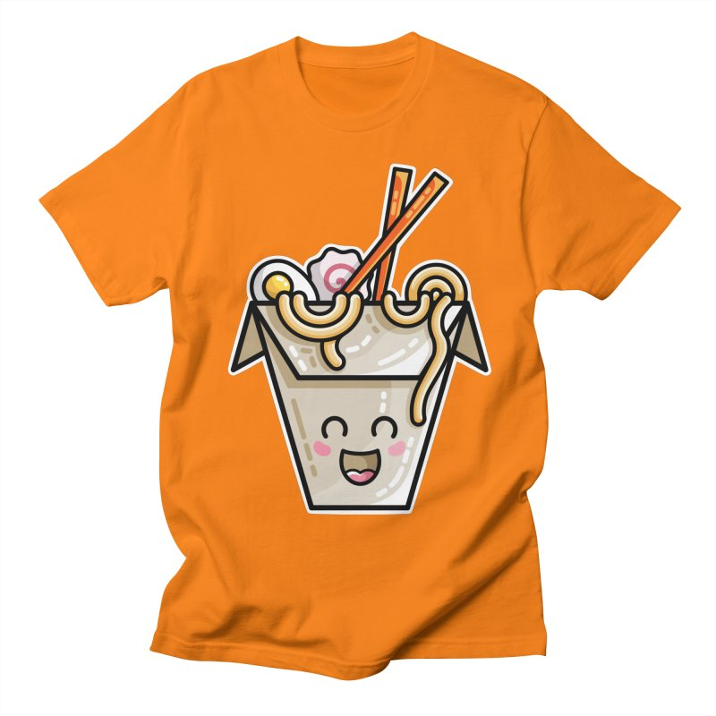 Kawaii Cute Ramen Noodles Takeaway Box Men's Regular T-Shirt by Flaming Imp's Artist Shop