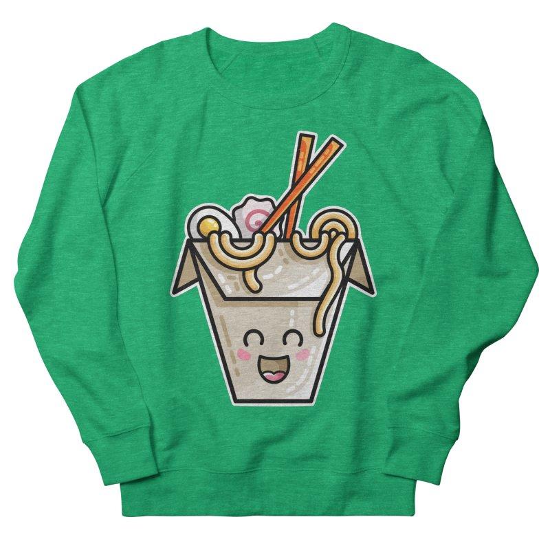 Kawaii Cute Ramen Noodles Takeaway Box Women's Sweatshirt by Flaming Imp's Artist Shop