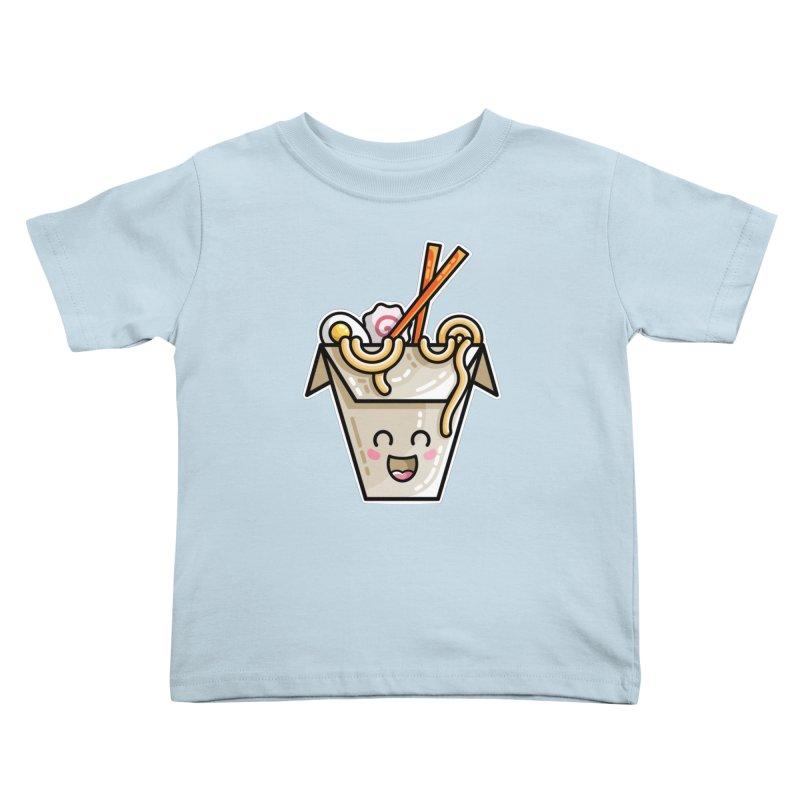 Kawaii Cute Ramen Noodles Takeaway Box Kids Toddler T-Shirt by Flaming Imp's Artist Shop