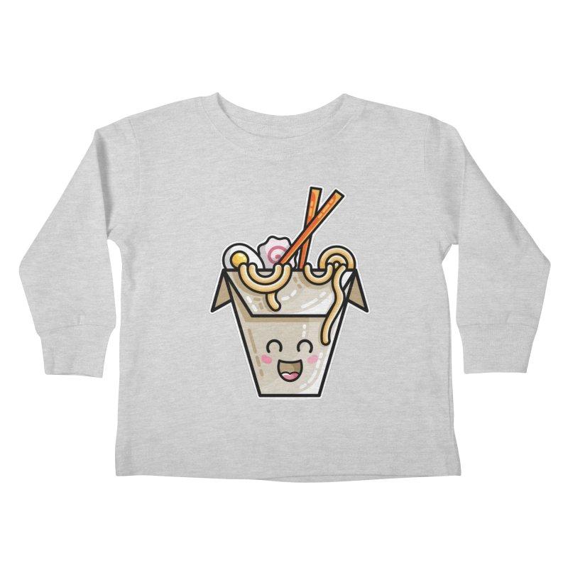 Kawaii Cute Ramen Noodles Takeaway Box Kids Toddler Longsleeve T-Shirt by Flaming Imp's Artist Shop