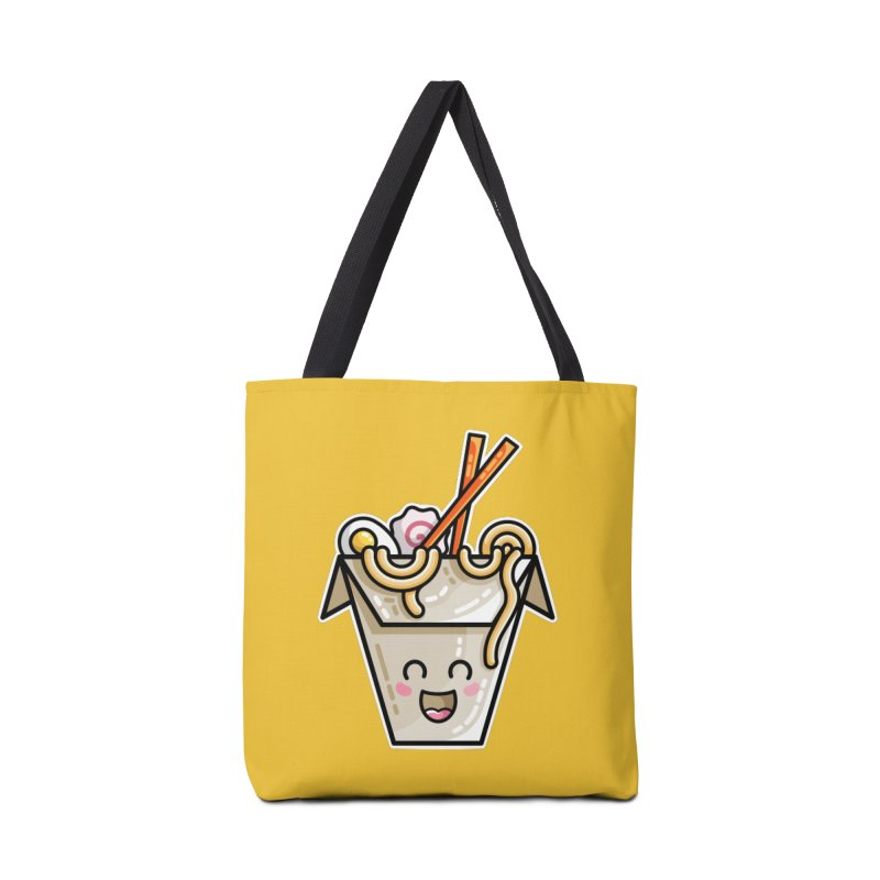 Kawaii Cute Ramen Noodles Takeaway Box Accessories Tote Bag Bag by Flaming Imp's Artist Shop