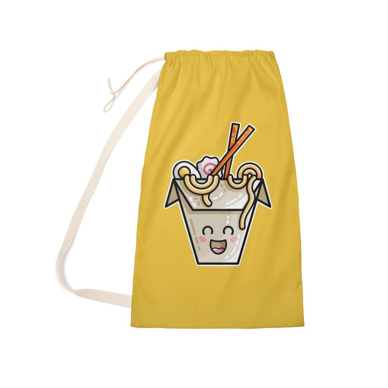 Kawaii Cute Ramen Noodles Takeaway Box Accessories Laundry Bag Bag by Flaming Imp's Artist Shop