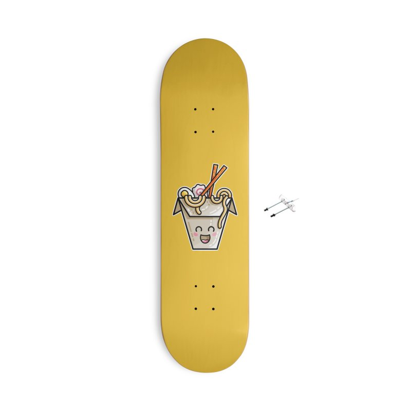 Kawaii Cute Ramen Noodles Takeaway Box Accessories With Hanging Hardware Skateboard by Flaming Imp's Artist Shop