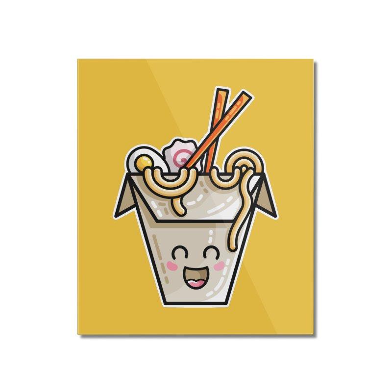 Kawaii Cute Ramen Noodles Takeaway Box Home Mounted Acrylic Print by Flaming Imp's Artist Shop