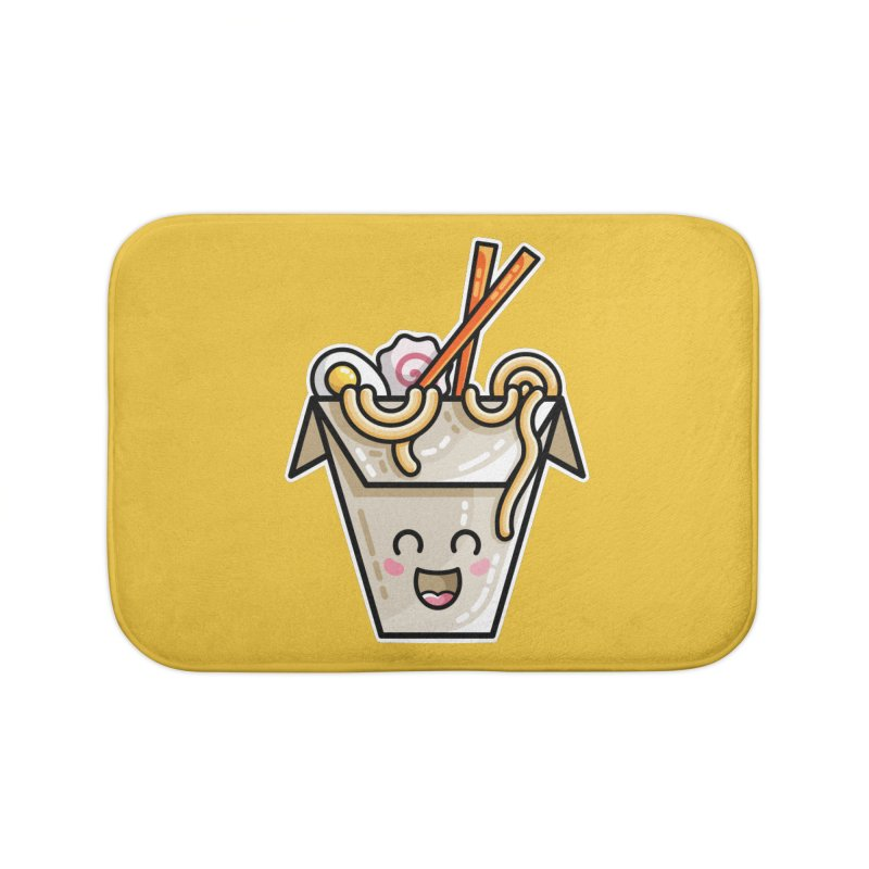 Kawaii Cute Ramen Noodles Takeaway Box Home Bath Mat by Flaming Imp's Artist Shop