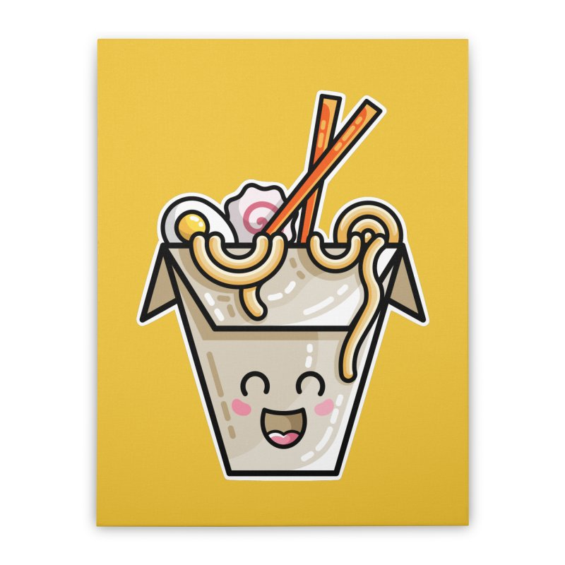 Kawaii Cute Ramen Noodles Takeaway Box Home Stretched Canvas by Flaming Imp's Artist Shop