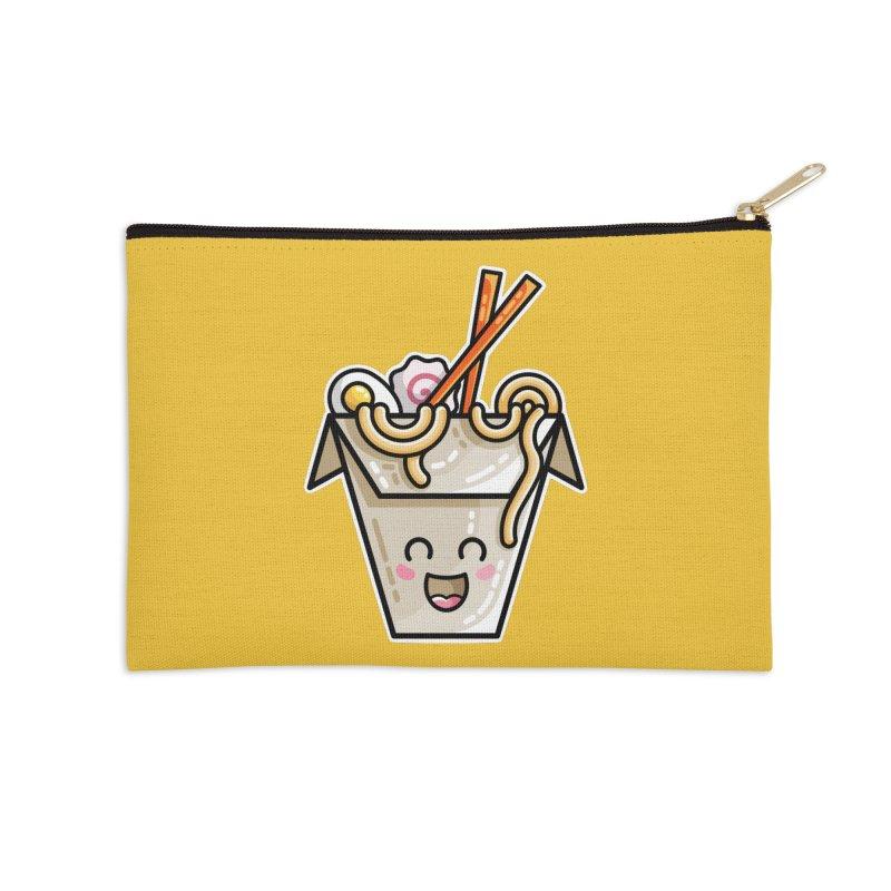 Kawaii Cute Ramen Noodles Takeaway Box Accessories Zip Pouch by Flaming Imp's Artist Shop