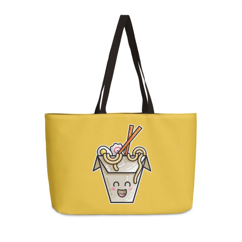 Kawaii Cute Ramen Noodles Takeaway Box Accessories Weekender Bag Bag by Flaming Imp's Artist Shop