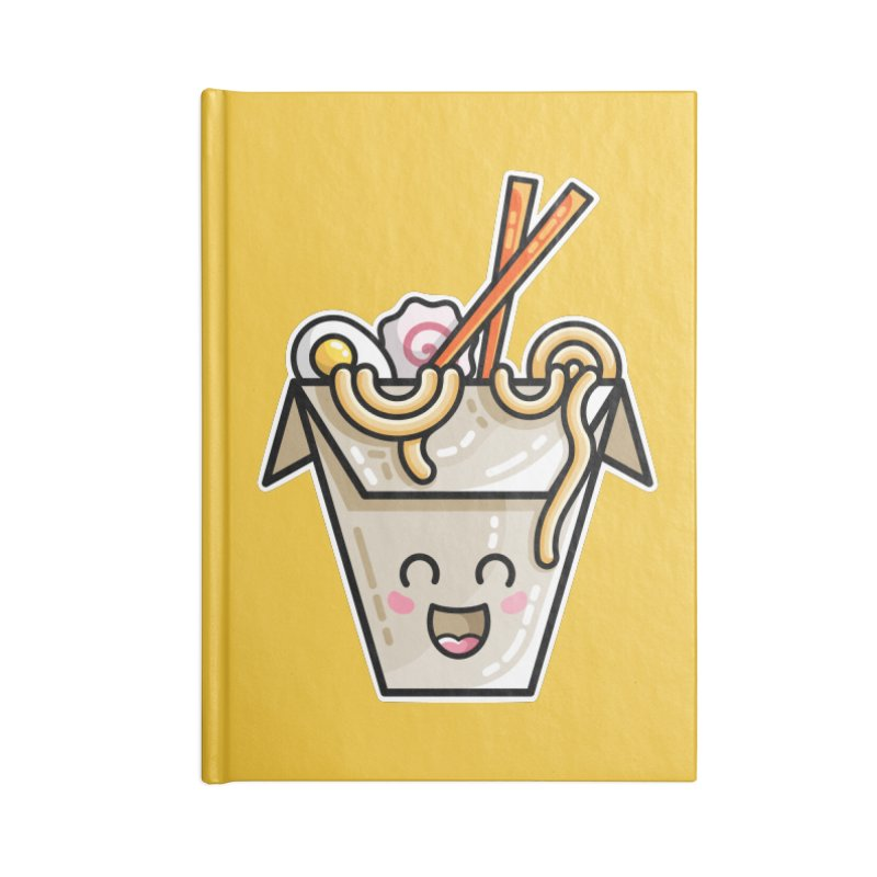 Kawaii Cute Ramen Noodles Takeaway Box Accessories Lined Journal Notebook by Flaming Imp's Artist Shop
