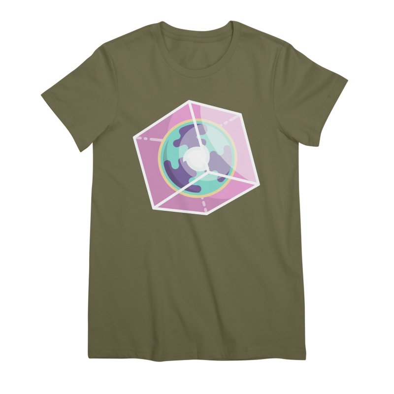 The Librarian Cube Dimensional Key Women's Premium T-Shirt by Flaming Imp's Artist Shop
