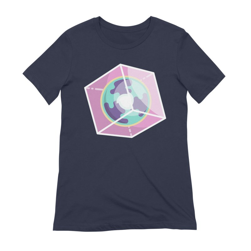 The Librarian Cube Dimensional Key Women's Extra Soft T-Shirt by Flaming Imp's Artist Shop