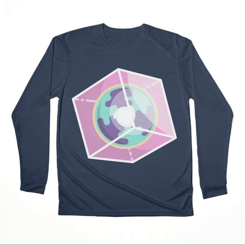The Librarian Cube Dimensional Key Men's Performance Longsleeve T-Shirt by Flaming Imp's Artist Shop