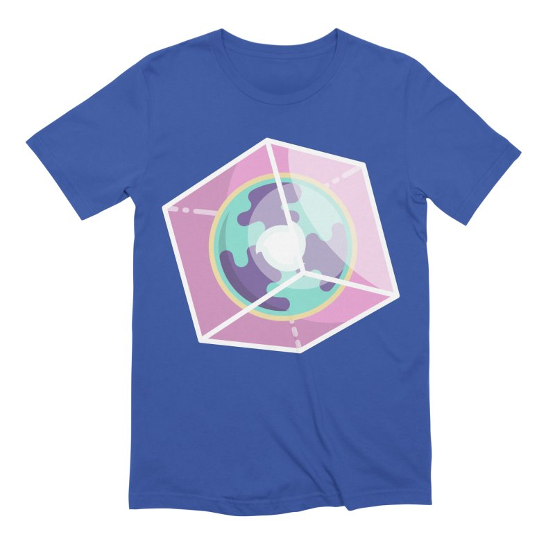 The Librarian Cube Dimensional Key Men's Extra Soft T-Shirt by Flaming Imp's Artist Shop