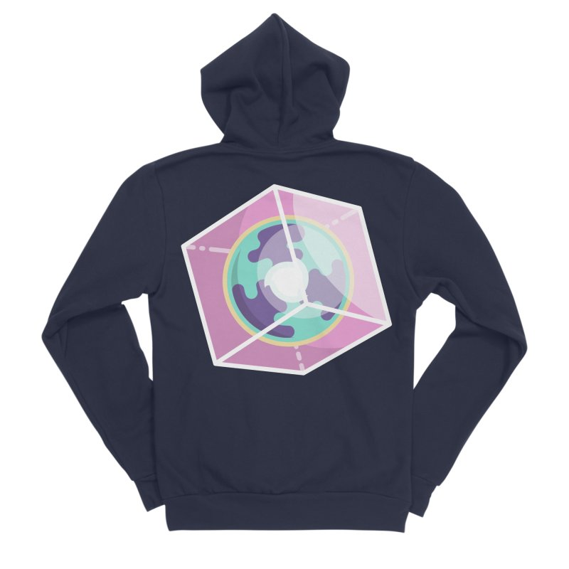 The Librarian Cube Dimensional Key Men's Sponge Fleece Zip-Up Hoody by Flaming Imp's Artist Shop