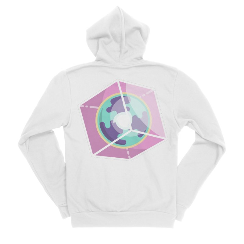 The Librarian Cube Dimensional Key Women's Sponge Fleece Zip-Up Hoody by Flaming Imp's Artist Shop