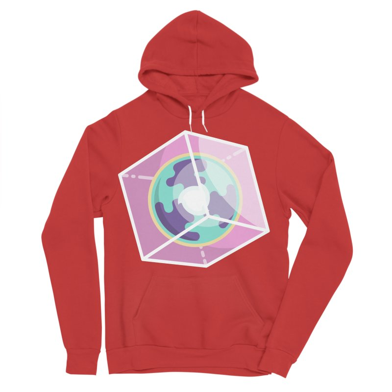 The Librarian Cube Dimensional Key Men's Sponge Fleece Pullover Hoody by Flaming Imp's Artist Shop
