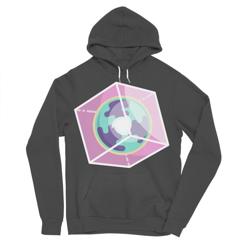 The Librarian Cube Dimensional Key Women's Sponge Fleece Pullover Hoody by Flaming Imp's Artist Shop