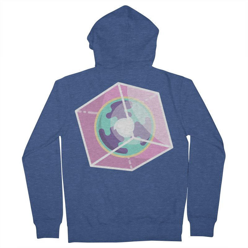 The Librarian Cube Dimensional Key Women's French Terry Zip-Up Hoody by Flaming Imp's Artist Shop
