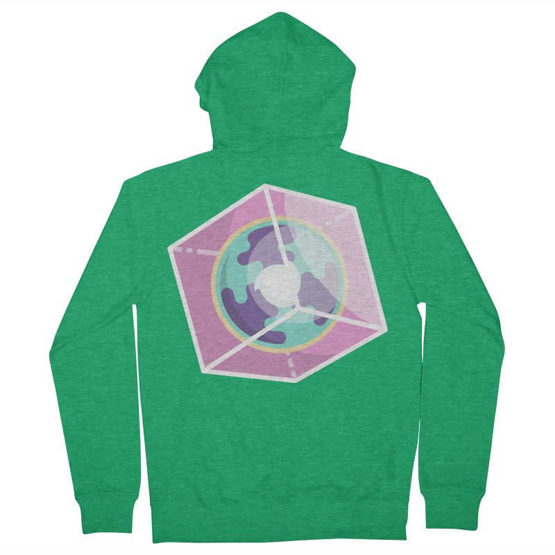 The Librarian Cube Dimensional Key Men's French Terry Zip-Up Hoody by Flaming Imp's Artist Shop