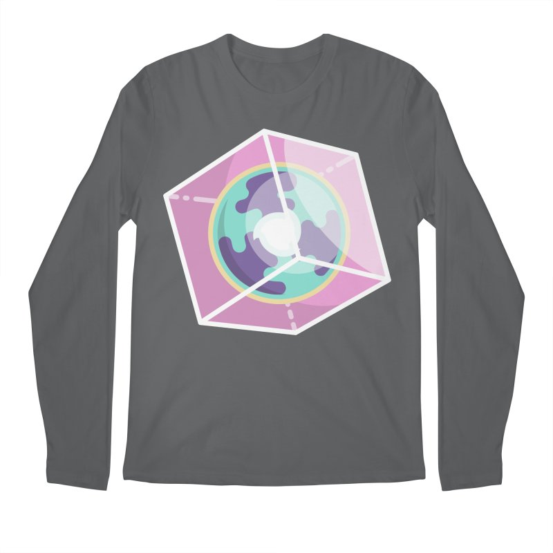 The Librarian Cube Dimensional Key Men's Regular Longsleeve T-Shirt by Flaming Imp's Artist Shop