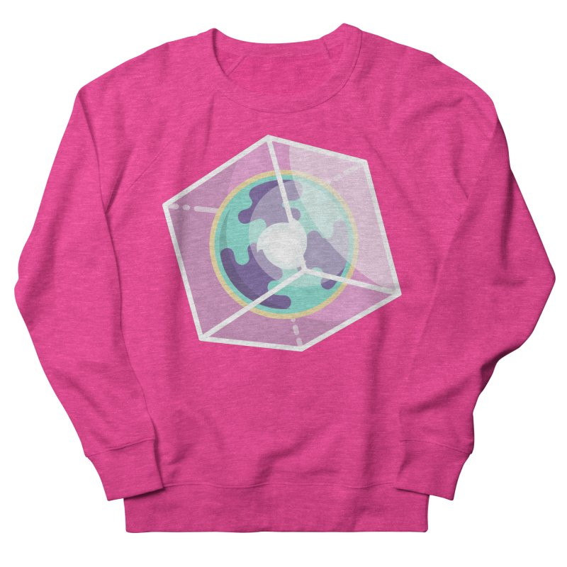 The Librarian Cube Dimensional Key Women's French Terry Sweatshirt by Flaming Imp's Artist Shop