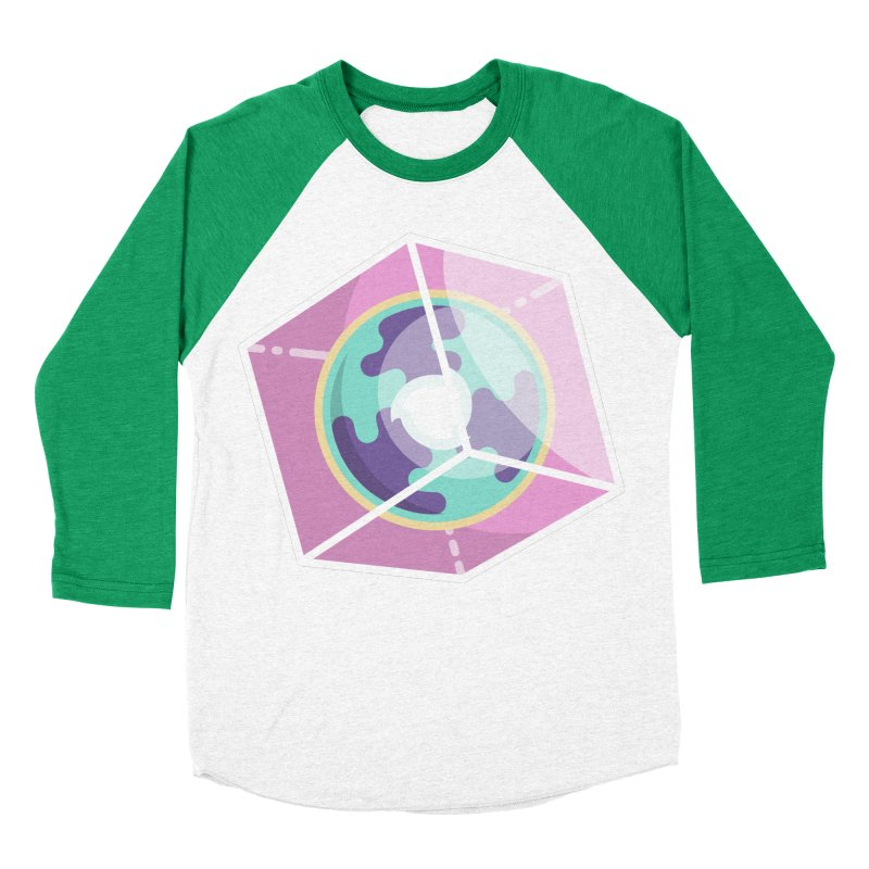 The Librarian Cube Dimensional Key Women's Baseball Triblend Longsleeve T-Shirt by Flaming Imp's Artist Shop