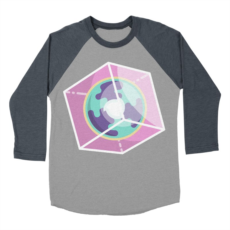 The Librarian Cube Dimensional Key Men's Baseball Triblend Longsleeve T-Shirt by Flaming Imp's Artist Shop