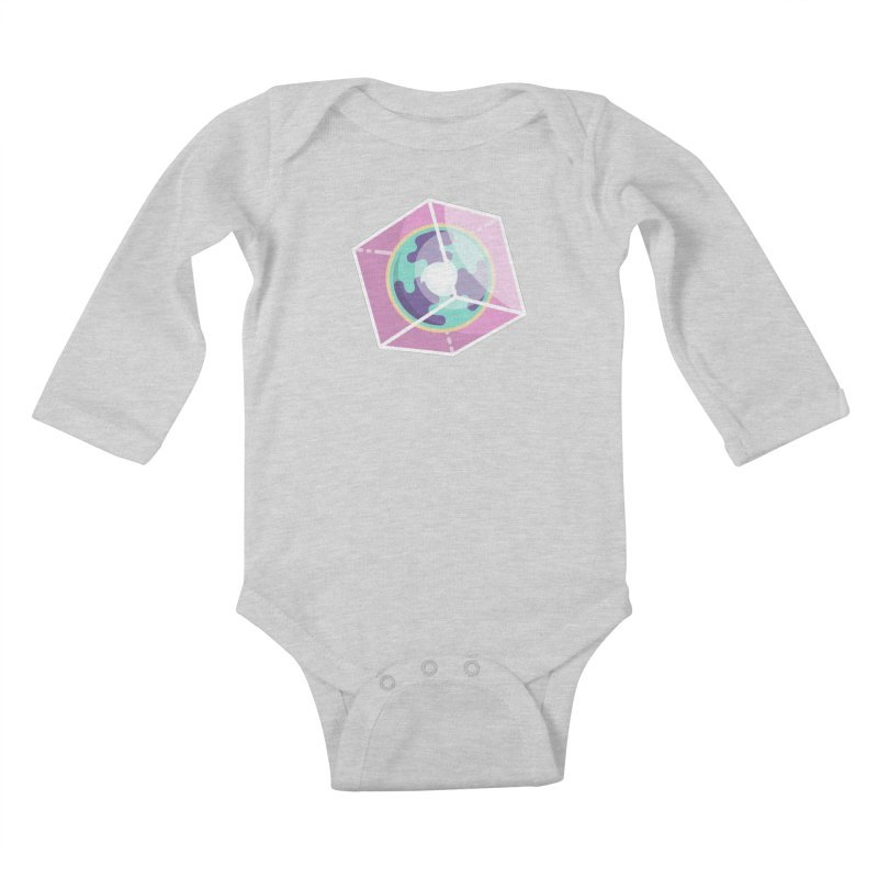 The Librarian Cube Dimensional Key Kids Baby Longsleeve Bodysuit by Flaming Imp's Artist Shop