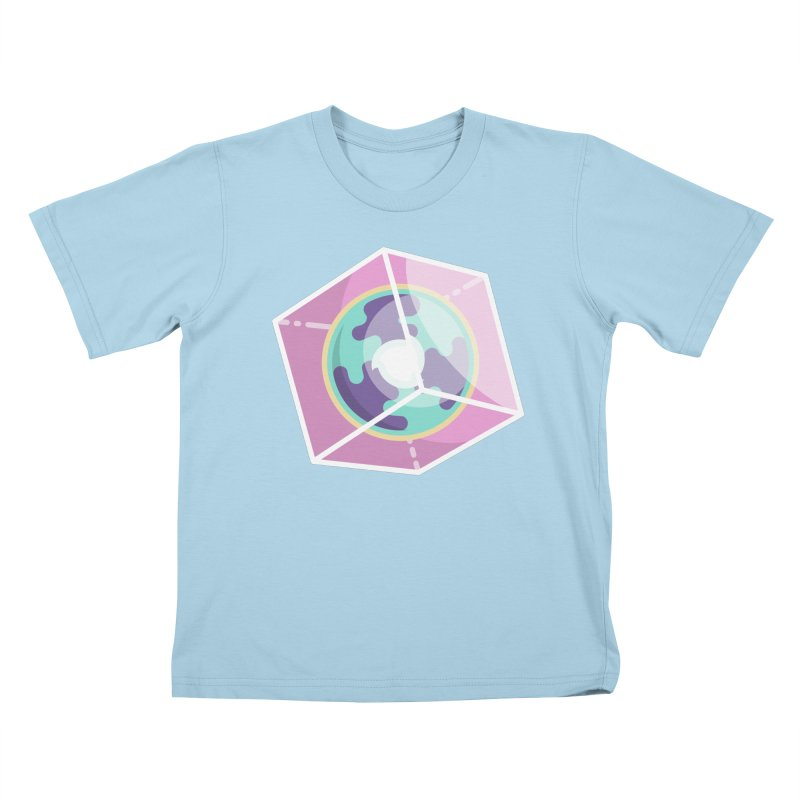 The Librarian Cube Dimensional Key Kids T-Shirt by Flaming Imp's Artist Shop