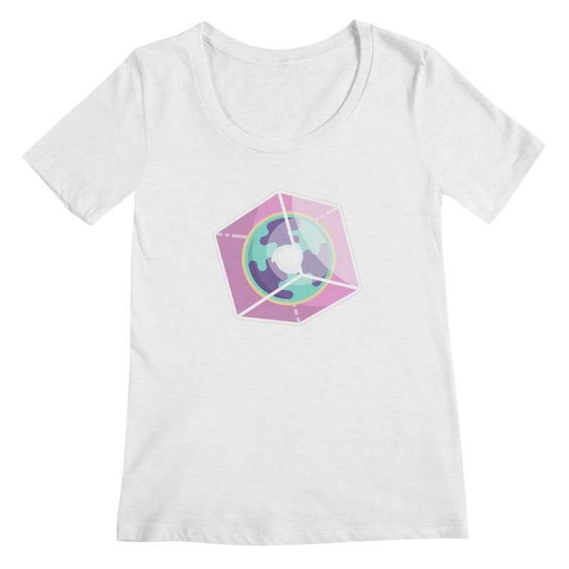 The Librarian Cube Dimensional Key Women's Regular Scoop Neck by Flaming Imp's Artist Shop