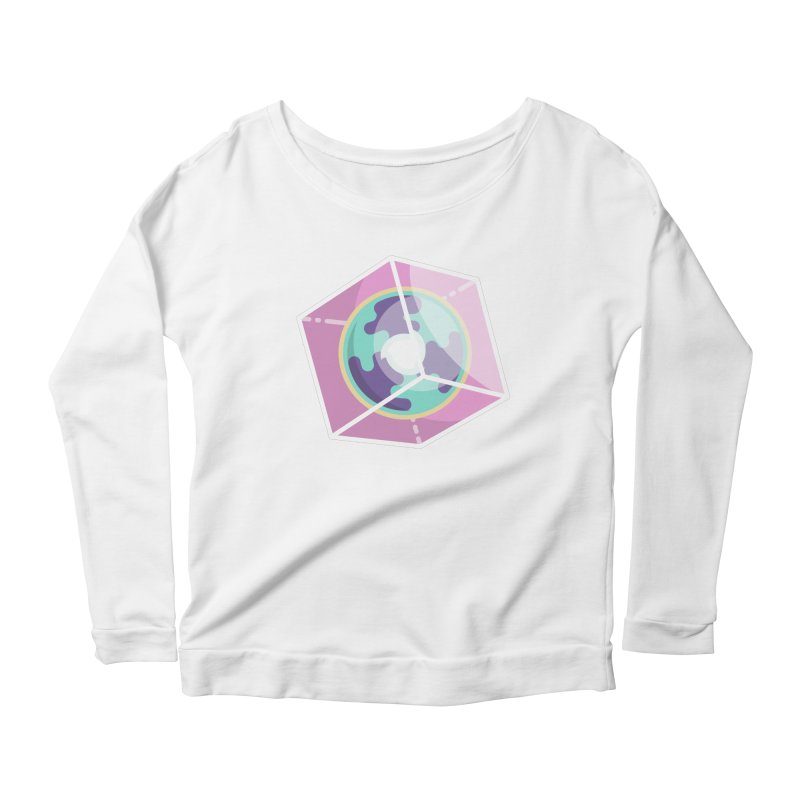 The Librarian Cube Dimensional Key Women's Scoop Neck Longsleeve T-Shirt by Flaming Imp's Artist Shop