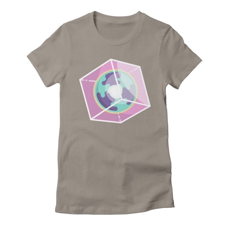 The Librarian Cube Dimensional Key Women's Fitted T-Shirt by Flaming Imp's Artist Shop
