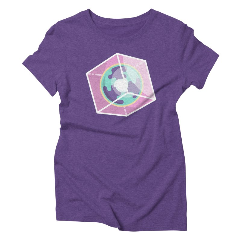 The Librarian Cube Dimensional Key Women's Triblend T-Shirt by Flaming Imp's Artist Shop
