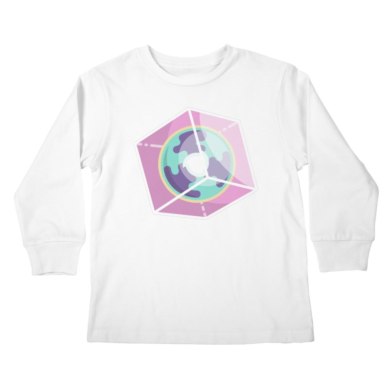 The Librarian Cube Dimensional Key Kids Longsleeve T-Shirt by Flaming Imp's Artist Shop