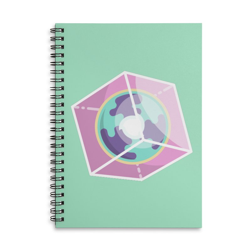 The Librarian Cube Dimensional Key Accessories Lined Spiral Notebook by Flaming Imp's Artist Shop