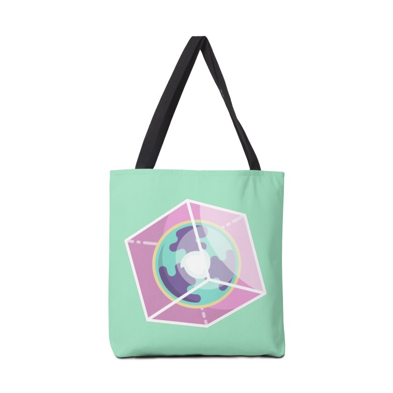 The Librarian Cube Dimensional Key Accessories Tote Bag Bag by Flaming Imp's Artist Shop