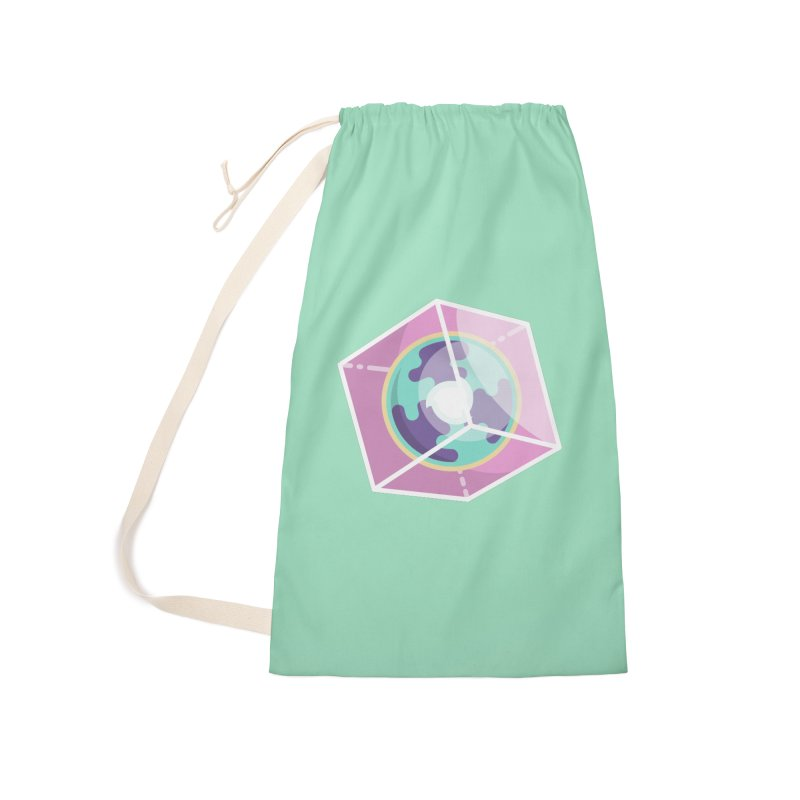 The Librarian Cube Dimensional Key Accessories Laundry Bag Bag by Flaming Imp's Artist Shop