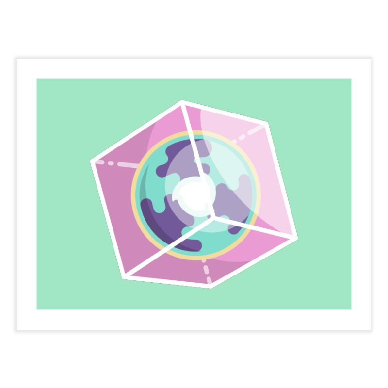 The Librarian Cube Dimensional Key Home Fine Art Print by Flaming Imp's Artist Shop
