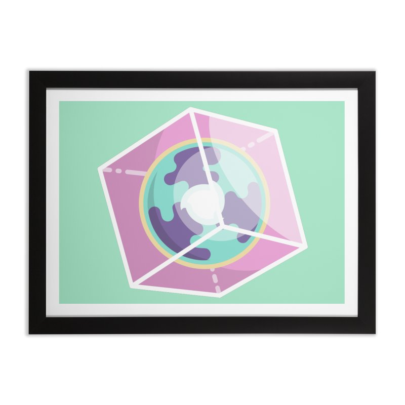 The Librarian Cube Dimensional Key Home Framed Fine Art Print by Flaming Imp's Artist Shop