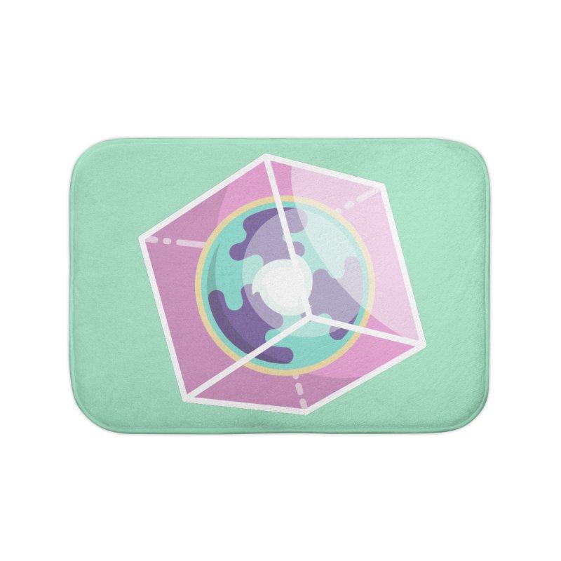 The Librarian Cube Dimensional Key Home Bath Mat by Flaming Imp's Artist Shop