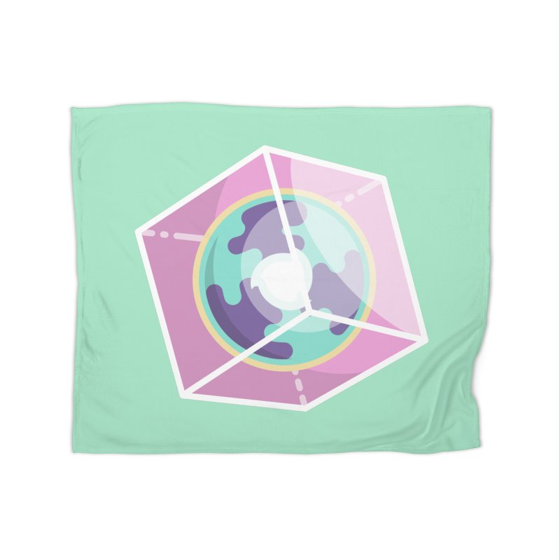 The Librarian Cube Dimensional Key Home Fleece Blanket Blanket by Flaming Imp's Artist Shop