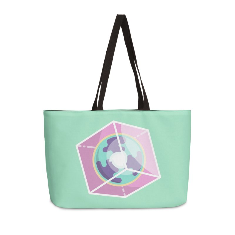 The Librarian Cube Dimensional Key Accessories Weekender Bag Bag by Flaming Imp's Artist Shop